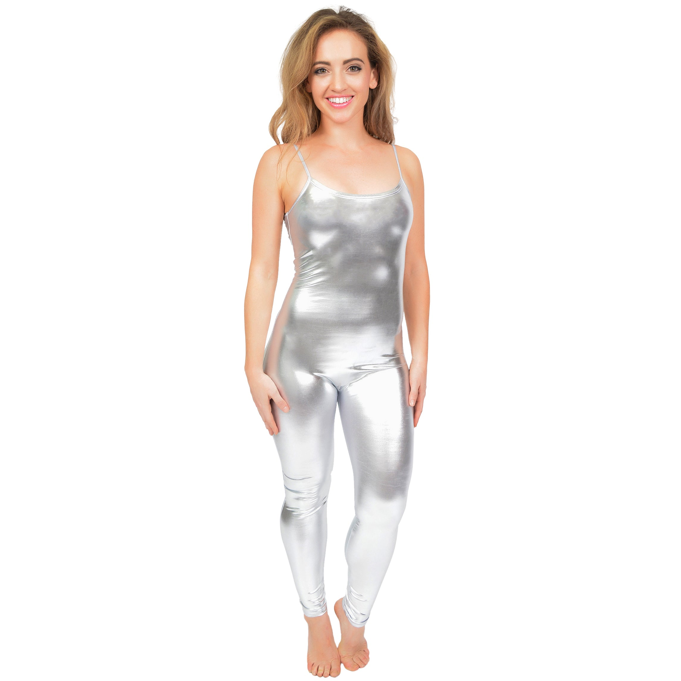Women's Metallic Camisole Long Unitard
