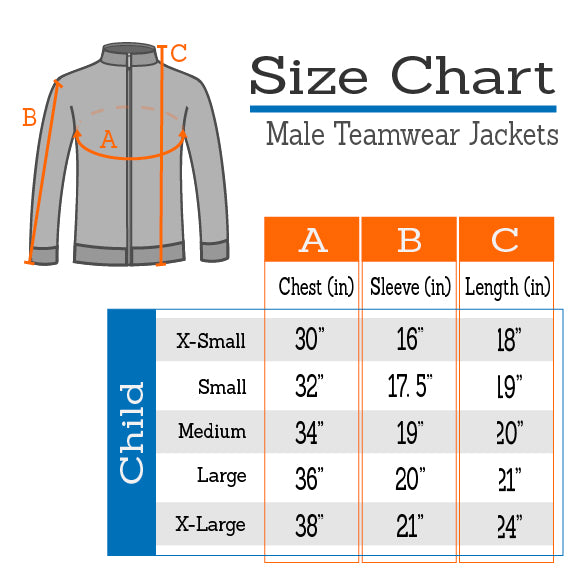 PERFORMANCE Cadet Warm Up Jacket Sizer Kit