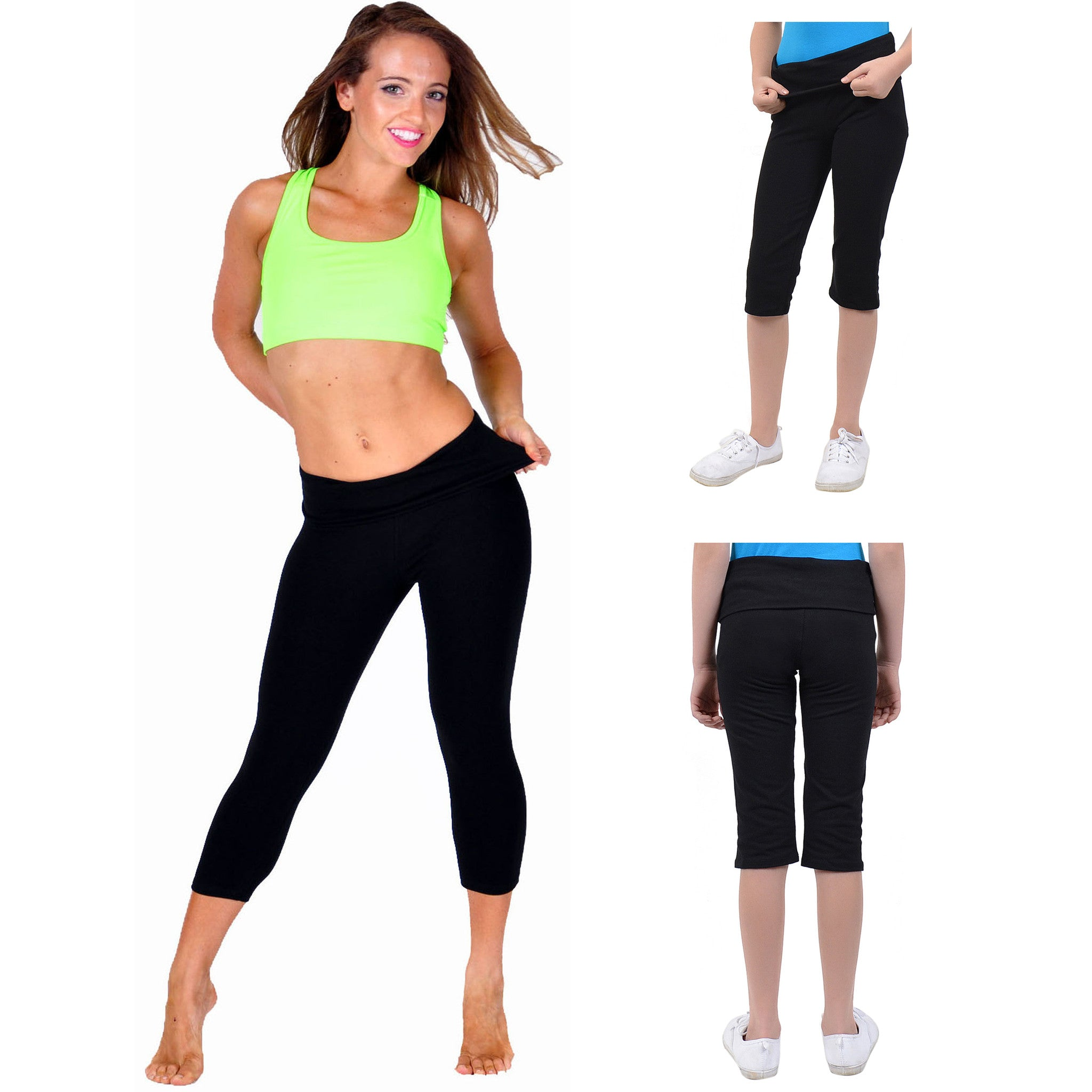 Teamwear Foldover Trailblazer Capri Leggings