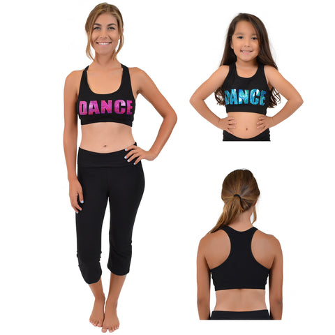 Teamwear Cotton Dance Sequin Sports Bra