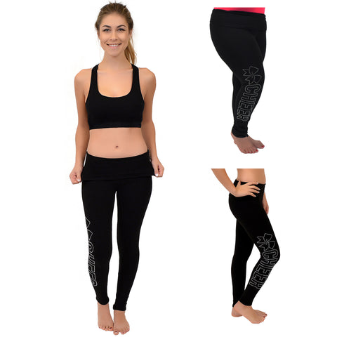 Teamwear Cheer Rhinestone Foldover Leggings