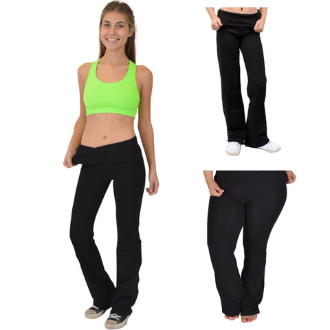 Teamwear Foldover Yoga Pants