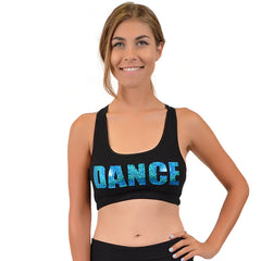 Women's Cotton Sequin Sports Bra