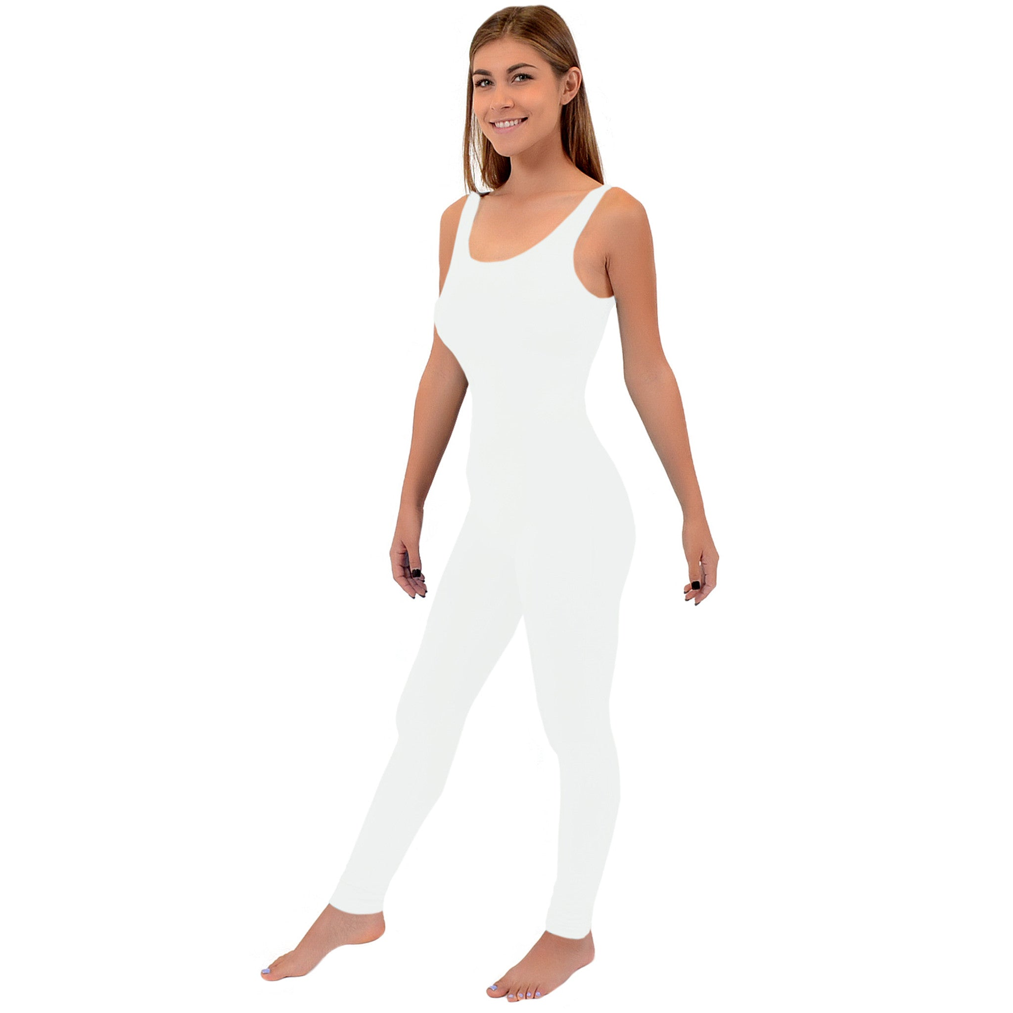 Women's Ankle Length Cotton Tank Unitard