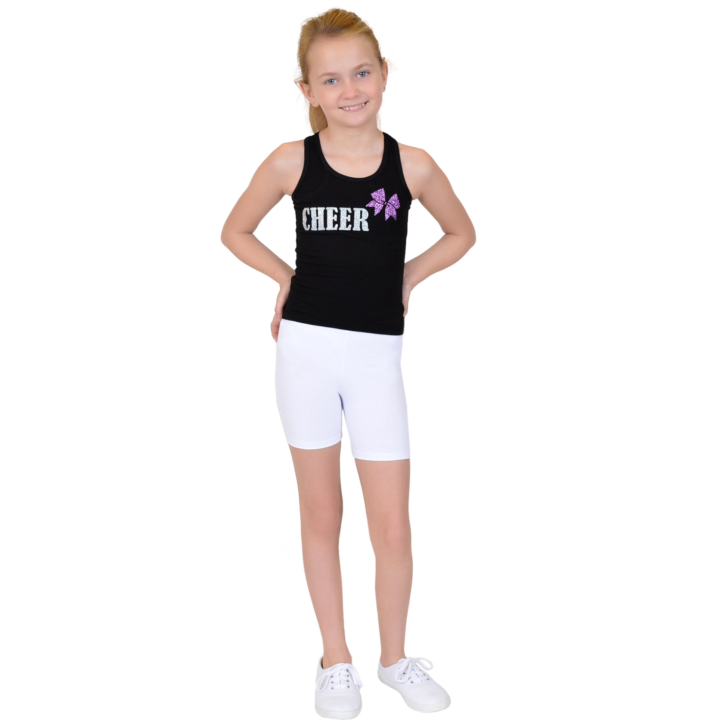 Girl's PLUS Cotton Biker Shorts
