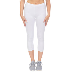 Women's and Plus Size Cotton Stretch WORKOUT Capri Leggings