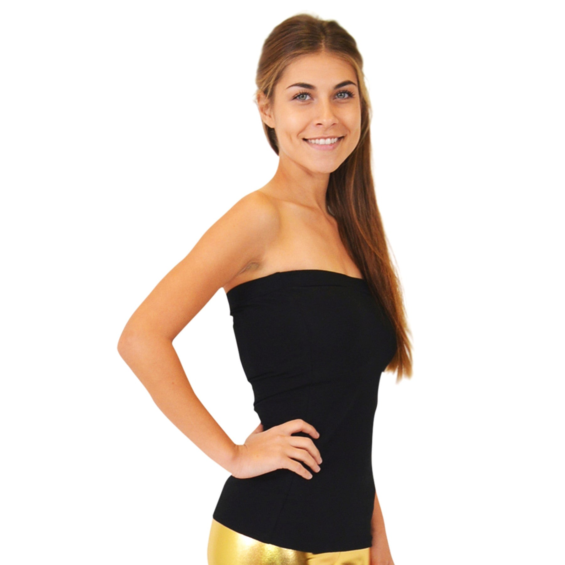 Teamwear Cotton Strapless Tube Top