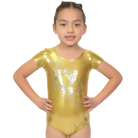 Girl's RHINESTONE Growing Hearts Mystique Leotards