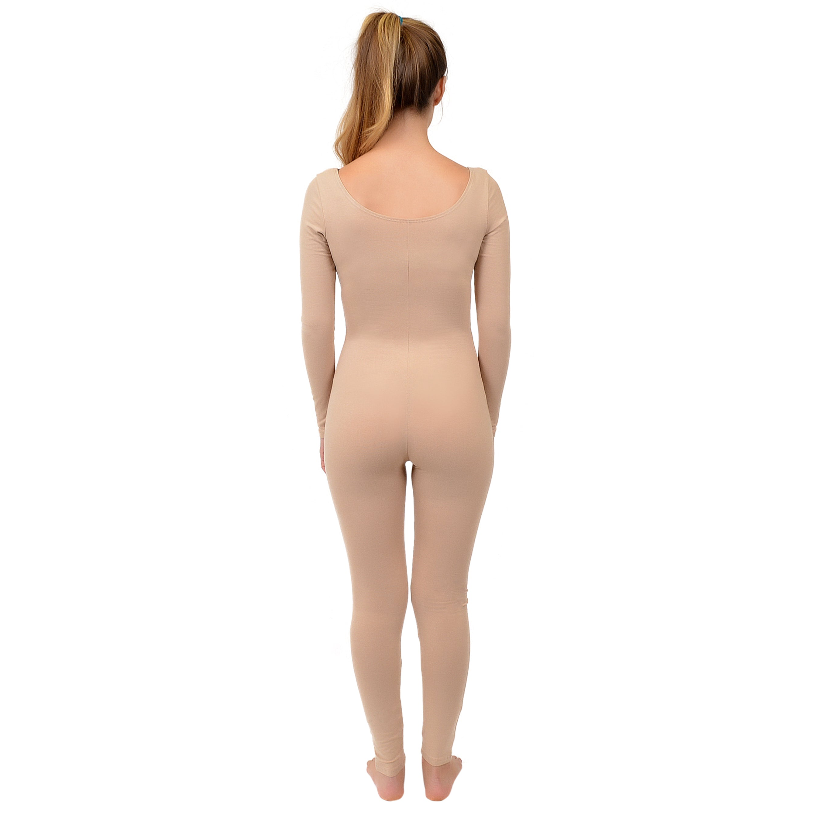 Women's COLOR Cotton Long Sleeve Unitard