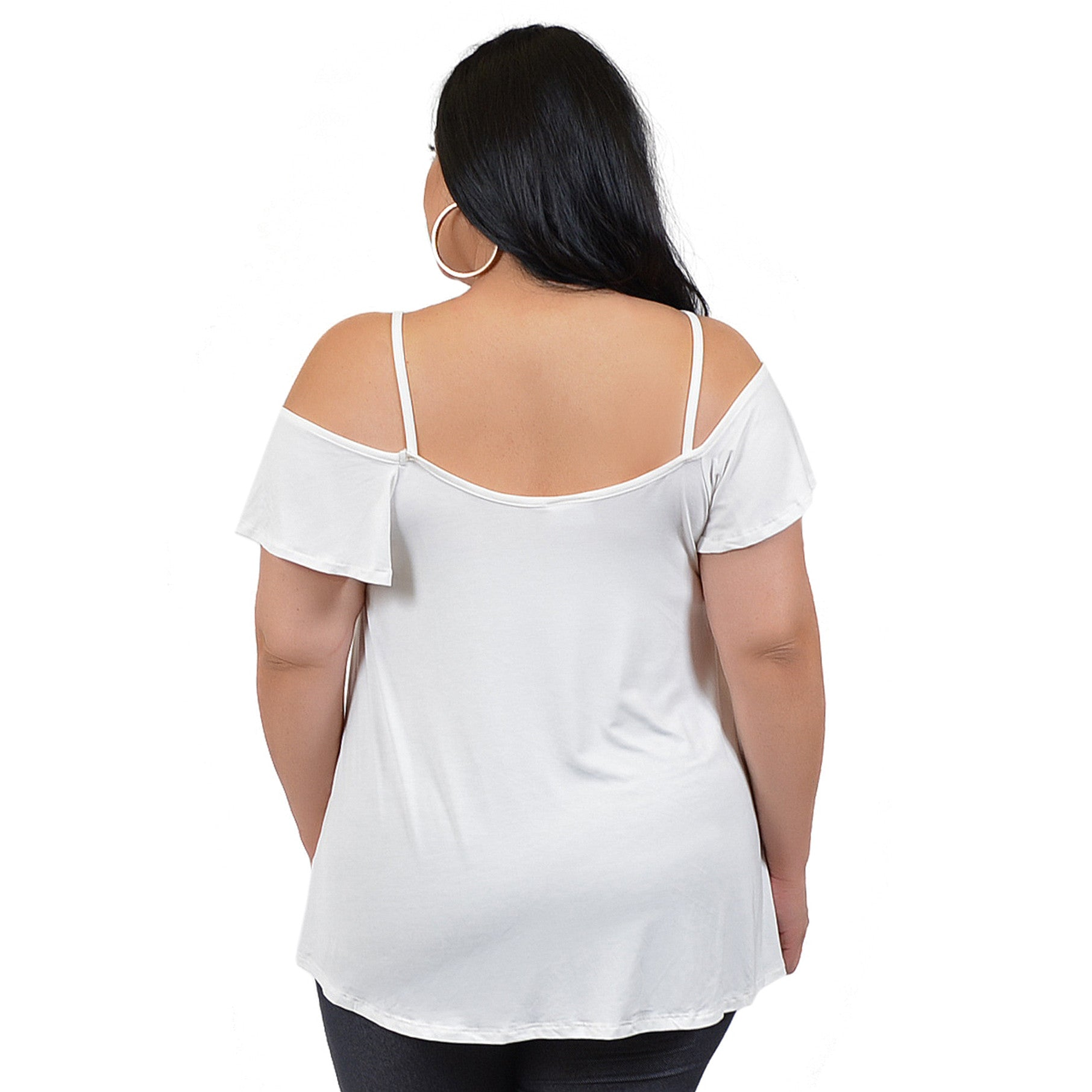 Plus Size Modal Cold Shoulder Top