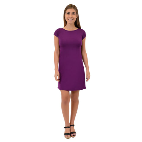 Women's Audrey Short Sleeve Boatneck Shift Dress