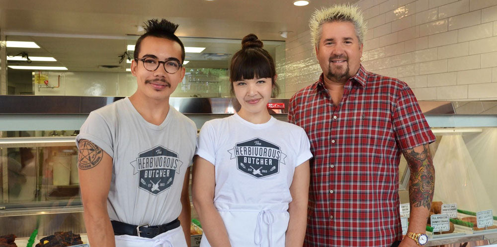 kale + aubry with guy fieri