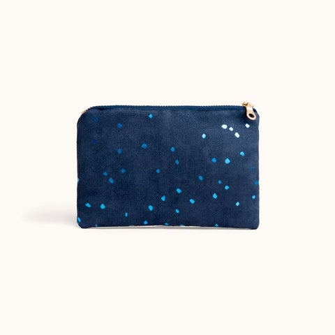 Portofino Pouch In Confetti Indigo from Lee Coren