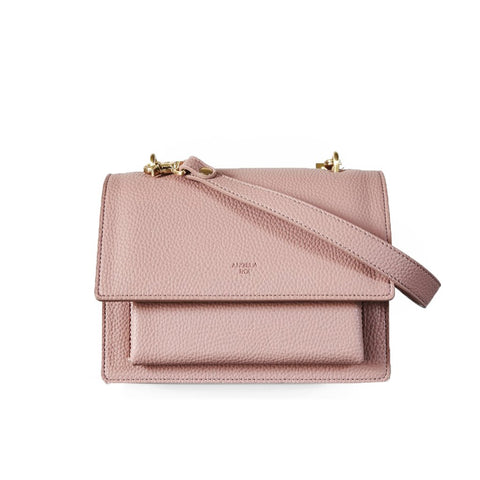 Eloise Satchel in Coral Pink from Angela Roi