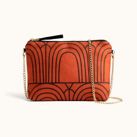 Dulce Clutch + Purse In Sunset Arches from Lee Coren