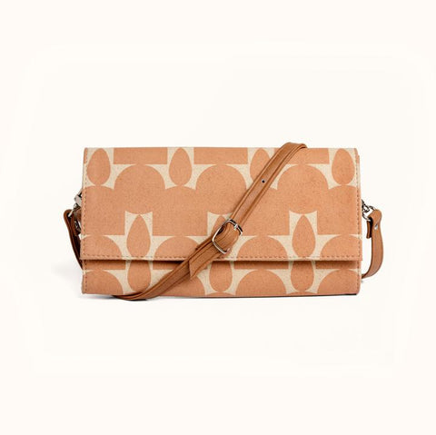 Minimal Wallet + Crossbody in Totem Sand from Lee Coren