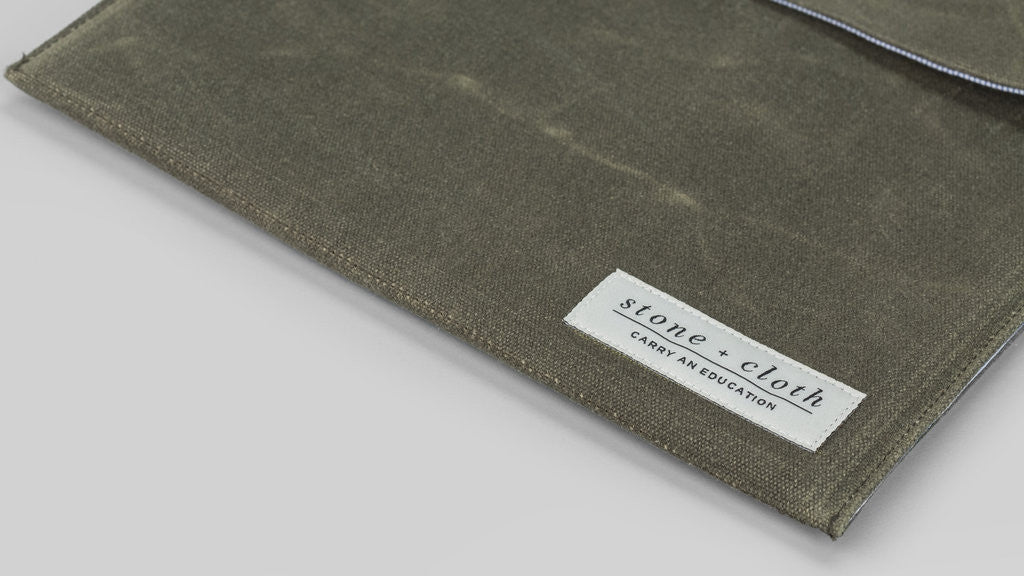 IPad Case in Waxed Grey from Stone + Cloth