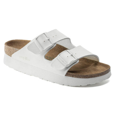 Arizona Platform Vegan in White from Birkenstock