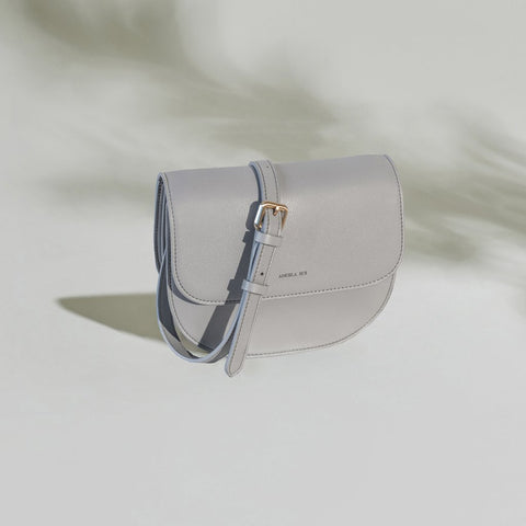 Hamilton Round Crossbody in Light Gray from Angela Roi