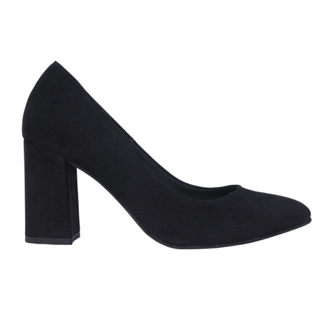 Block Heel Pump in Black from FAIR
