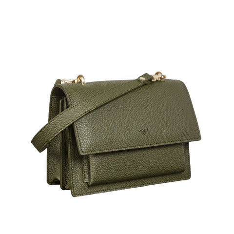 Eloise Satchel in Deep Olive from Angela Roi