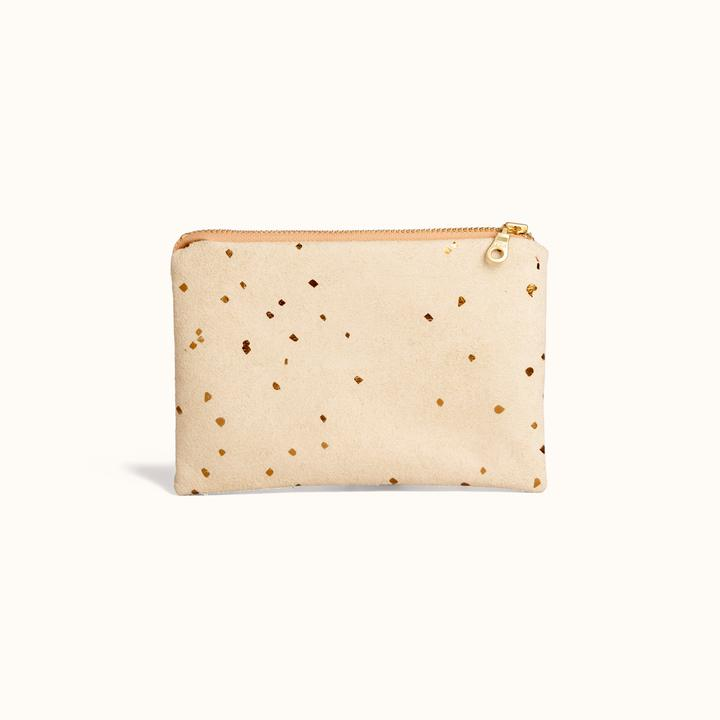 Portofino Pouch In Confetti Sand from Lee Coren