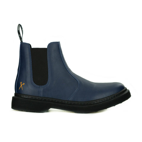 Brick Lane Chelsea Boot in Navy from King55