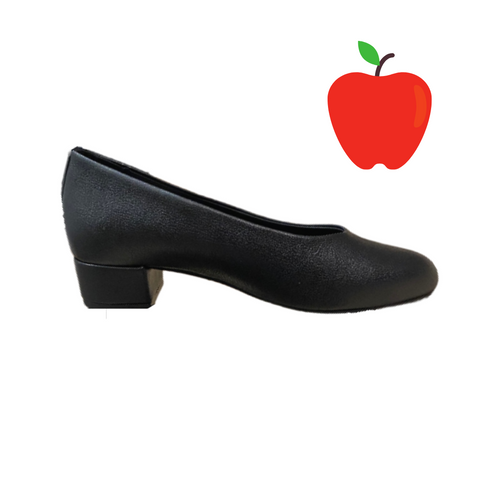 Betty Heel in Black Apple Leather from Good Guys