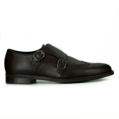 Mateo Monk Strap in Brown from Novacas