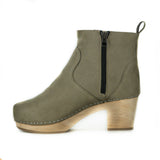 Marlowe Clog Boot in Taupe Suede from Novacas