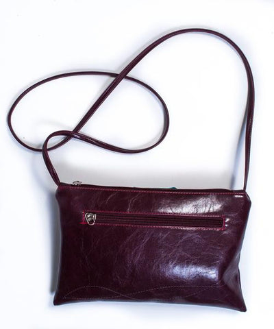 Bossa Nova Crossbody Bag in Wine from Crystalyn Kae