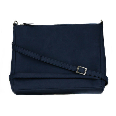 Ellie Crossbody in Blue Suede from Novacas