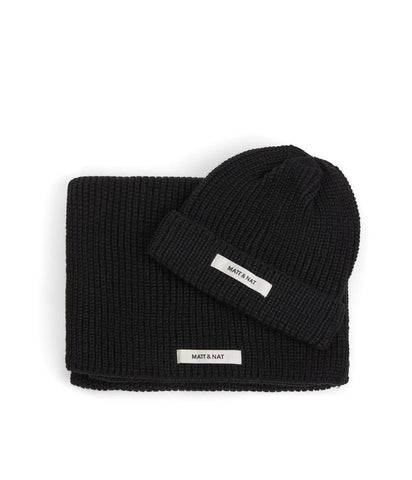 Wynn Hat & Scarf Set in Black from Matt & Nat