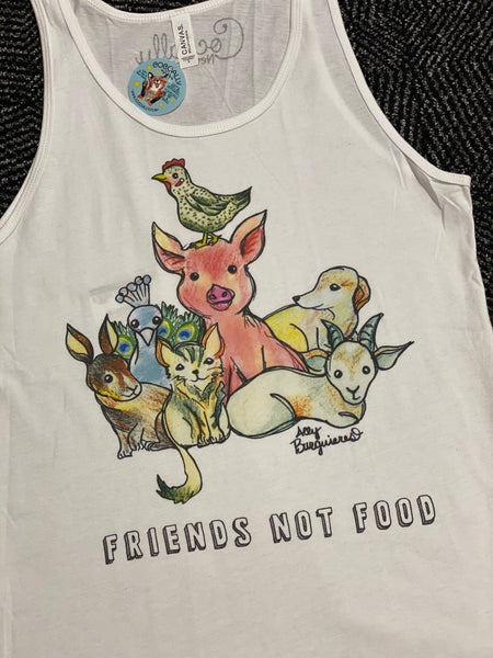 Friends Not Food Unisex Tank from Cocoally