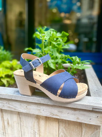 Dottie Sandal Clog in Blue from Novacas