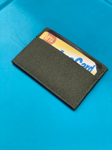 Boris Cardholder in Green Suede from Novacas