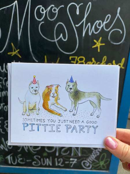Pittie Party Card by Creature Comforts