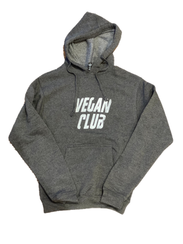 Vegan Club Hoodie in Black Heather