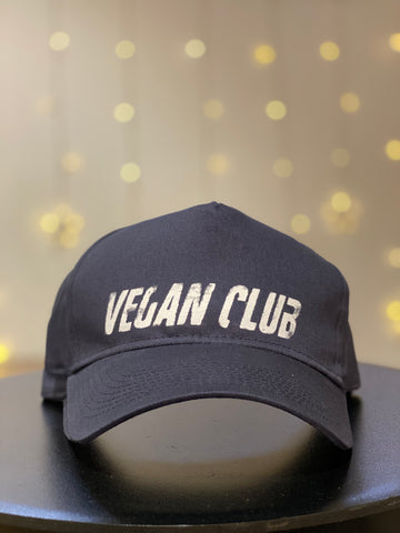 Vegan Club Baseball Hat in Blue
