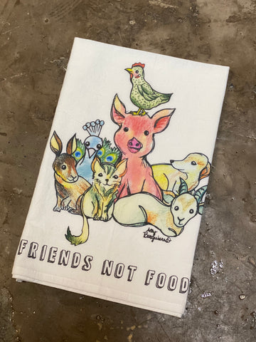 Friends Not Food Tea Towel from Cocoally