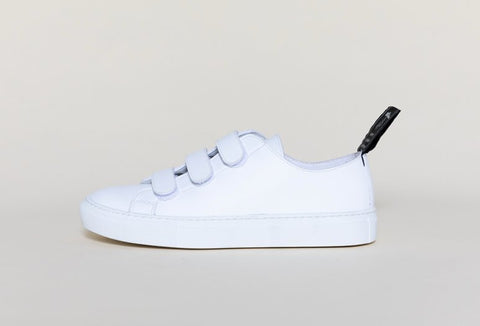 Keith Velcro Sneaker in White from Good Guys