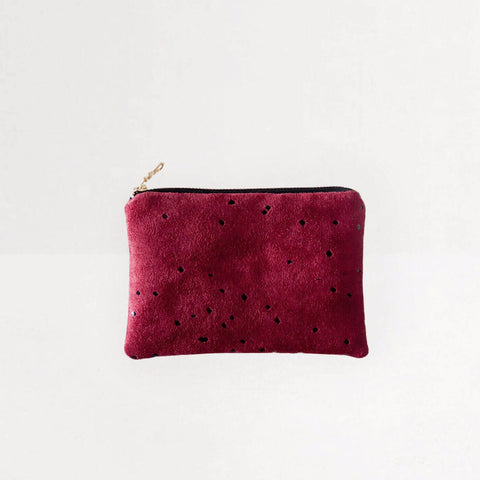 Portofino Pouch in Burgundy from Lee Coren