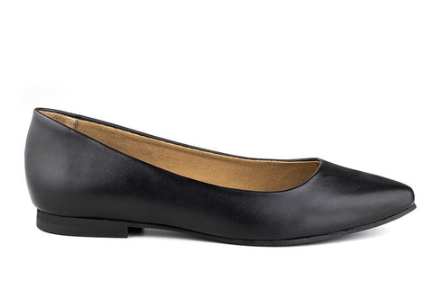 Diana Flats in Black Matte from Ahimsa