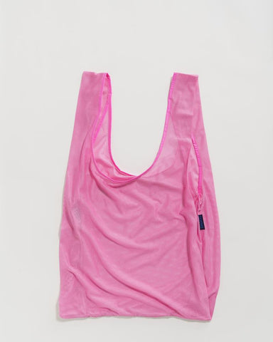 Mesh Reusable Bag in Bright Pink from BAGGU
