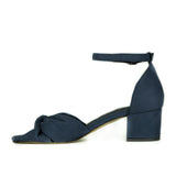 Nia Bow Heel in Blue from Novacas