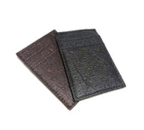 Cliff NYC Vertical Wallet In Brown Pineapple