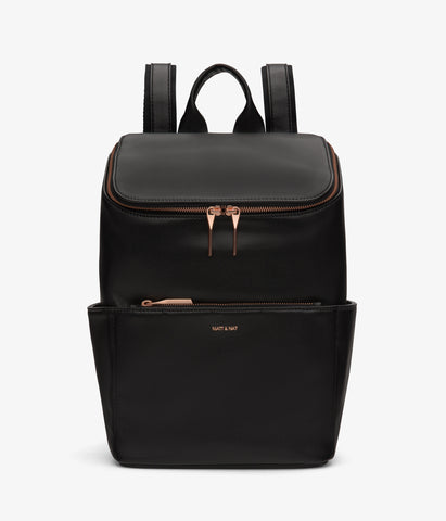 Brave Backpack in Black w/ Rose Gold from Matt & Nat