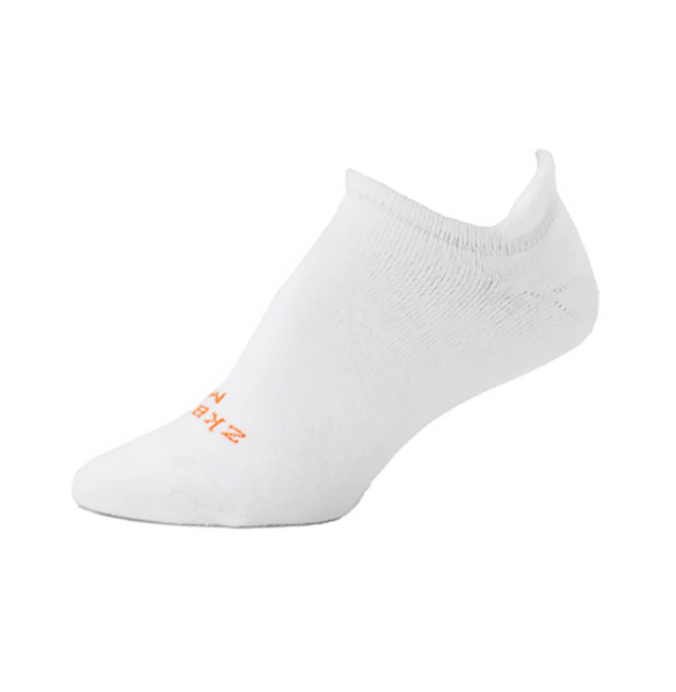 Ridge No Show Socks in White from Zkano