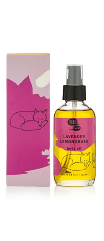 Lavender Lemongrass Body Oil from Meow Meow Tweet