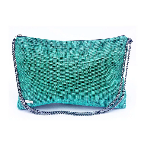 Recycled Crossbody in Turquoise from Trópicca